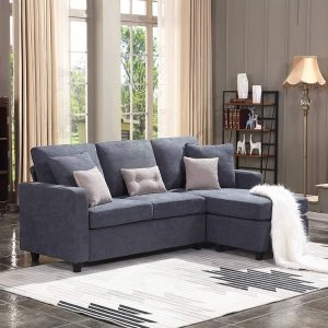 Cheap Living Room Sets On Sale,L-shaped couch with modern linen fabric