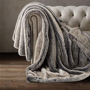 4 luxury faux fur throw blanket super soft reversible throw warm lightweight