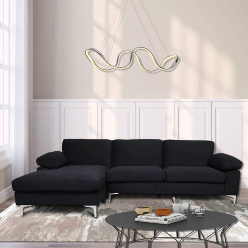 L shaped couch for family living room modern large sectional sofa