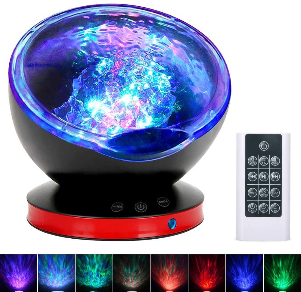 remote control ocean wave projector night light