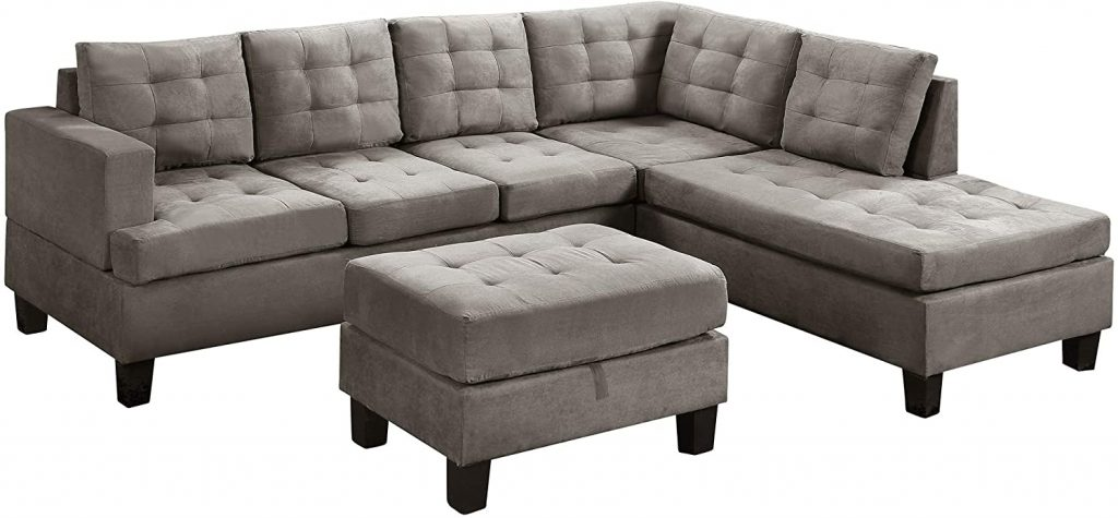 3 Piece Modern Upholstery Sectional Sofa