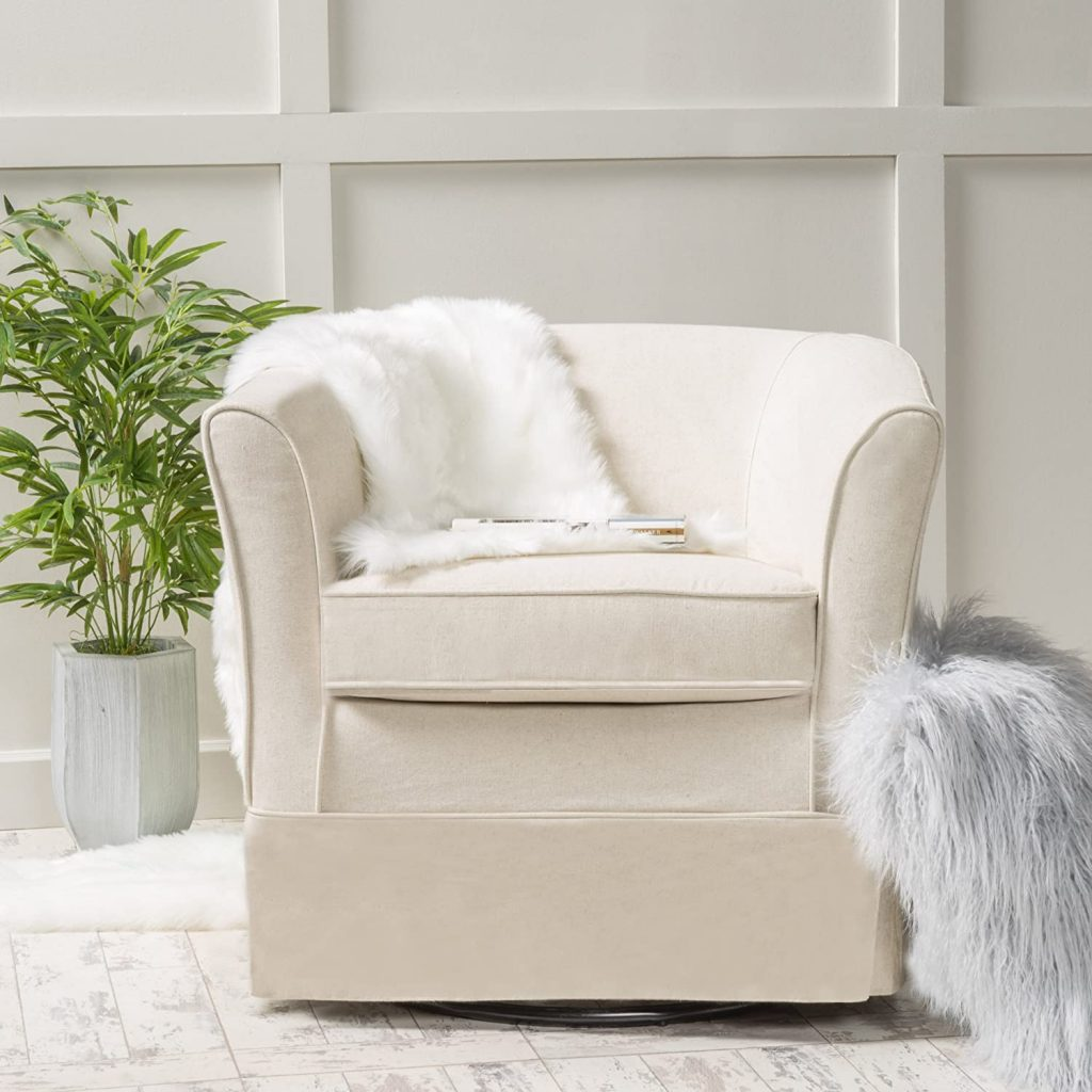 Chair with Loose Cover And Natural Fabric
