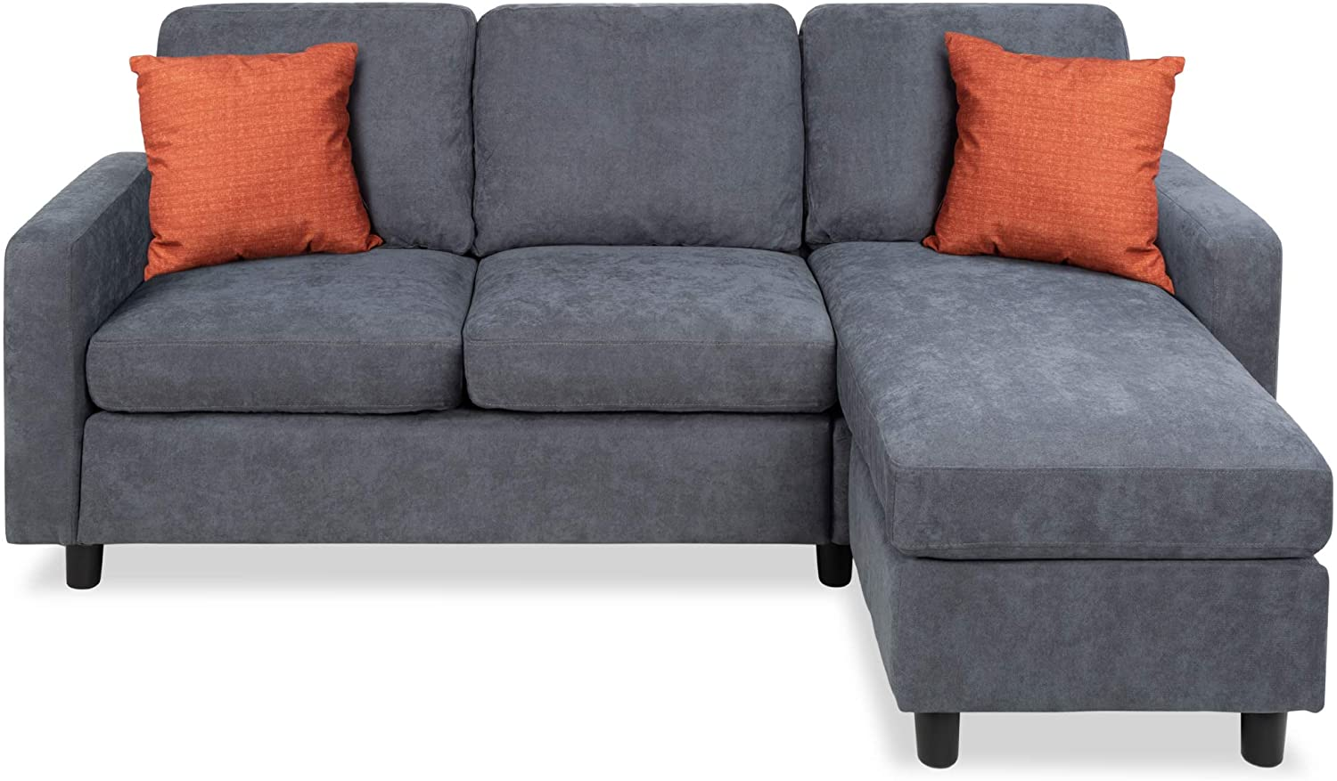 Cheap living room sets Sectional sofa and reversible ottoman