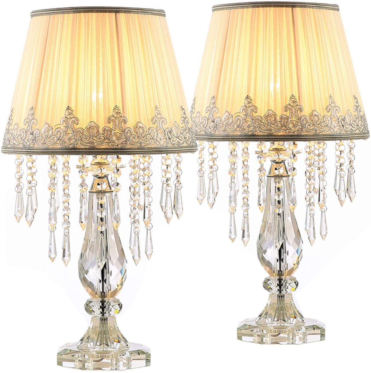 Table Lamps With Night Lights For Living Room Set Of 2