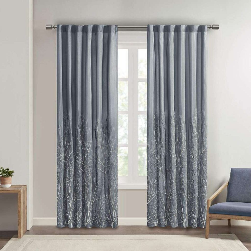 10 Best Curtain Fabric For Living room Madison park andorra curtains for living room