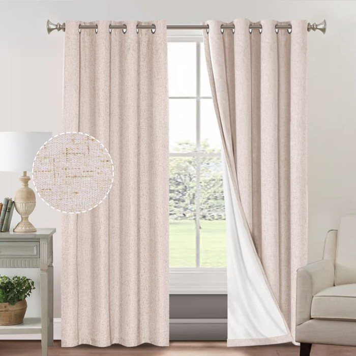 10 Best Curtain Fabric For Living room Primitive textured curtains