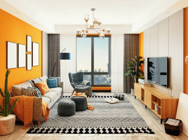 Furniture Arrangement in a Rectangular Shaped Small Living Room